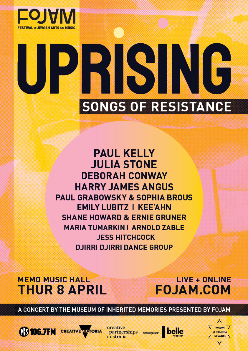 UPRISING: Songs of Resistence – with Paul Kelly, Julia Stone, Paul Grabowsky